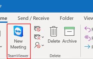 วิธีปิด TeamViewer Meeting Add-In ใน Outlook