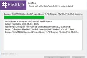 วิธีติดตั้งโปรแกรม HashTab