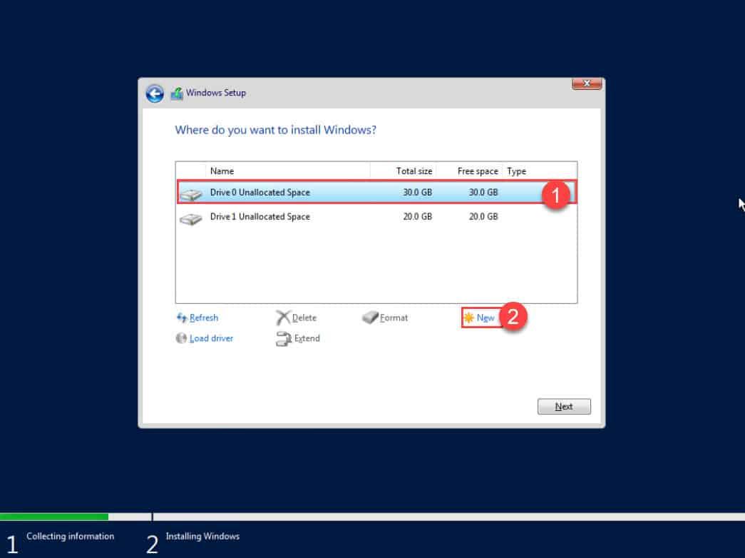 วิธีติดตั้ง Windows Server 2019 Datacenter