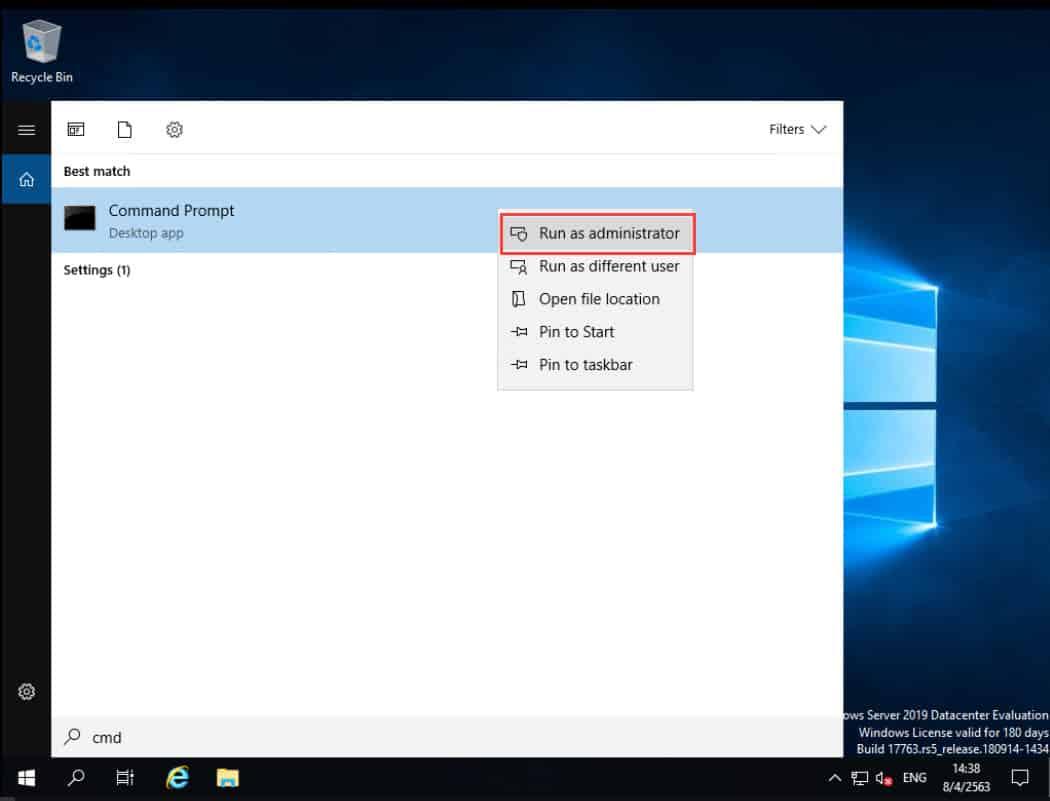 วิธี Activate Windows Server 2019 Datacenter