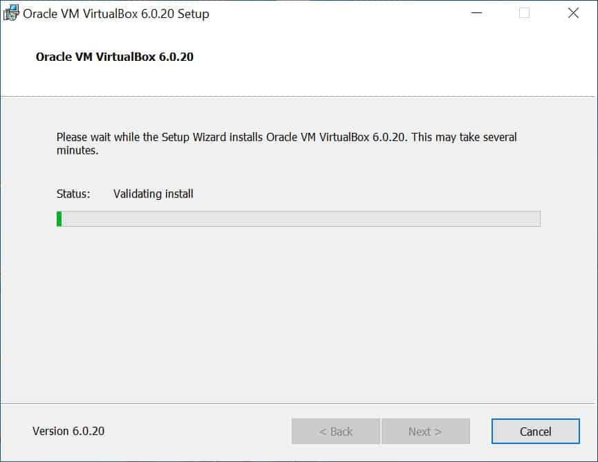 วิธีติดตั้ง Oracle VM VirtualBox 6.0 สำหรับ Windows