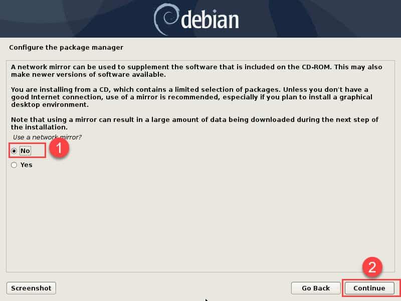 วิธีติดตั้ง Debian 10 แบบ Graphical install (GUI)