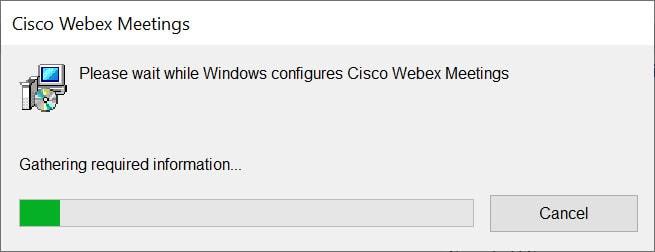 วิธีถอนการติดตั้งโปรแกรม Cisco Webex Meetings บน Windows