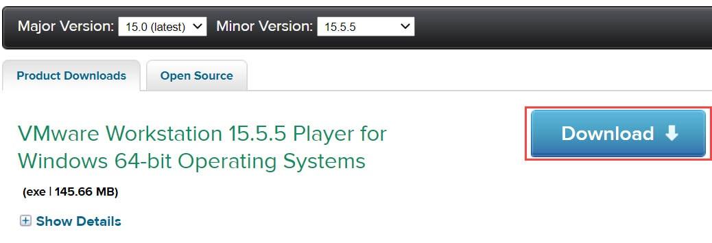 วิธีติดตั้ง VMware Workstation 15 Player