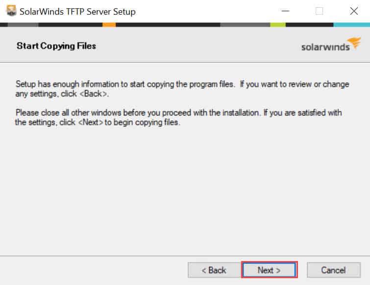 วิธีติดตั้ง SolarWinds TFTP Server