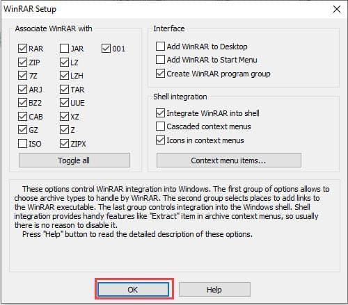 วิธีติดตั้งโปรแกรม WinRAR